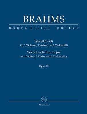 Sextuor à Cordes en Sib Majeur Opus 18 BRAHMS Partition laflutedepan