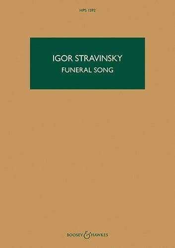 Chant Funèbre, op. 5 - Conducteur - STRAVINSKY - laflutedepan.com