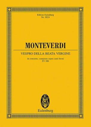 Vespro della Beata Vergine - Partitur MONTEVERDI laflutedepan