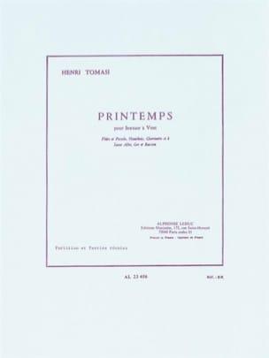 Printemps -Sextuor à vent - Partition + parties TOMASI laflutedepan