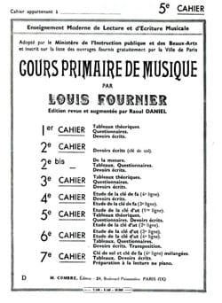 Cours primaire de musique n° 5 Louis Fournier Partition laflutedepan