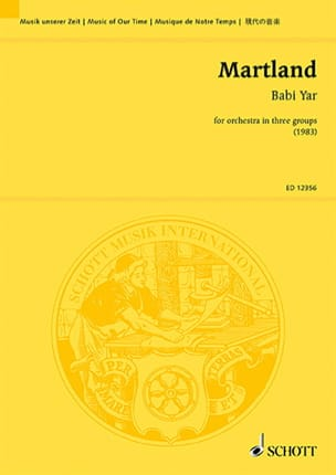 Babi Yar - Partitur Steve Martland Partition laflutedepan