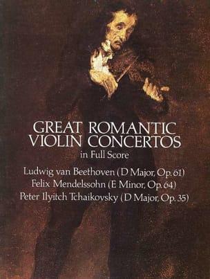 Great Romantic Violin Concertos - Full Score Partition laflutedepan