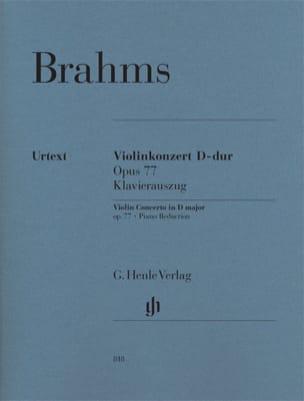 Concerto en Ré Maj. Op. 77 BRAHMS Partition Violon - laflutedepan