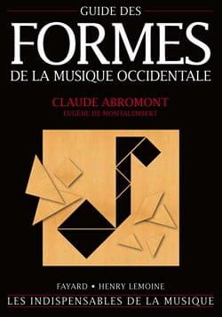Guide des Formes de la Musique Occidentale ABROMONT laflutedepan