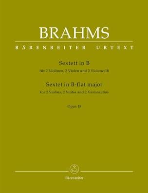 Sextuor à cordes en Sib Maj. Opus 18 BRAHMS Partition laflutedepan