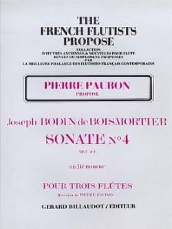 Sonate Op. 7 N° 4 en Ré Mineur BOISMORTIER Partition laflutedepan