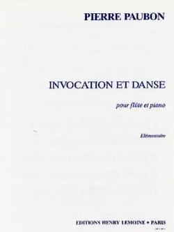 Invocation et Danse Pierre Paubon Partition laflutedepan