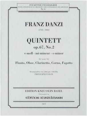 Quintett e-moll op. 67 Nr. 2 - Stimmen Franz Danzi laflutedepan