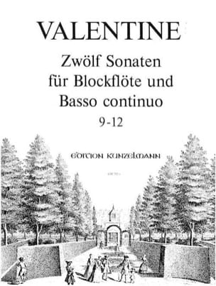 12 Sonaten 9-12 Robert Valentine Partition Flûte à bec - laflutedepan