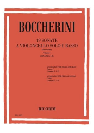 19 Sonates, Volume 1 G. 1-9 BOCCHERINI Partition laflutedepan