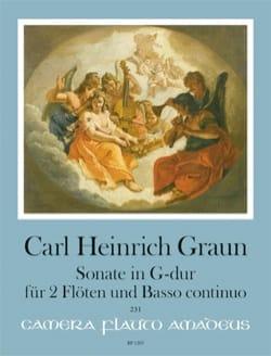 Sonate en Sol Majeur Carl Heinrich Graun Partition laflutedepan
