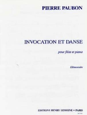 Invocation et Danse - Pierre Paubon - Partition - laflutedepan.com