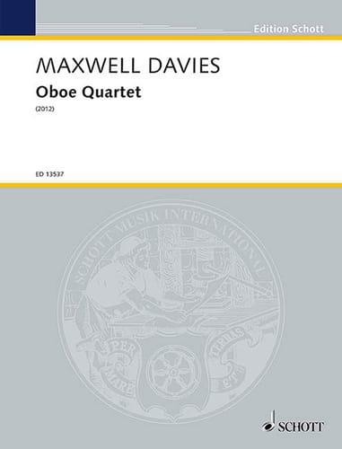 Oboe Quartet - Davies Peter Maxwell - Partition - laflutedepan.com