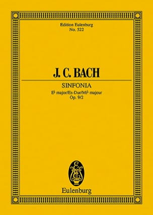 Sinfonia Es-Dur, Op. 9/2 Johann Christian Bach Partition laflutedepan