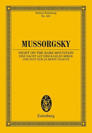Eine Nacht auf dem Kahlen Berge MOUSSORGSKI Partition laflutedepan