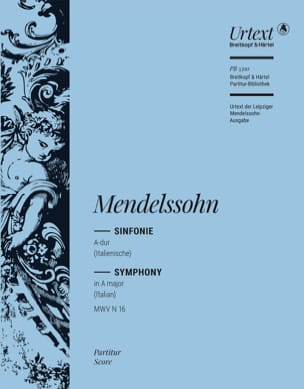 Symphonie Nr. 4 A-Dur op. 90 - Partitur MENDELSSOHN laflutedepan