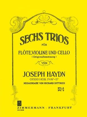 6 Trios Op.100 Volume 1 HAYDN Partition Trios - laflutedepan
