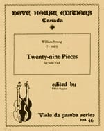 Twenty-nine pieces - solo viole - William Young - laflutedepan.com