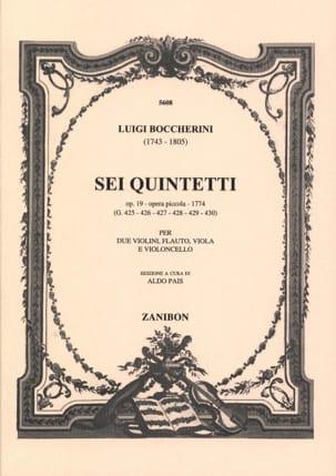 6 Quintetti, Op. 19 G425-430 - Parties BOCCHERINI laflutedepan