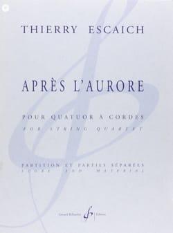 Après l'aurore -Partition + Parties Thierry Escaich laflutedepan
