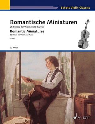 Miniatures Romantiques - Violon et Piano Partition laflutedepan