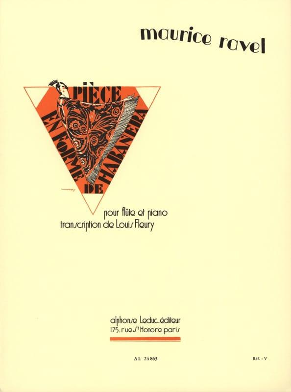 Pièce en forme de Habanera - Flûte piano - RAVEL - laflutedepan.com