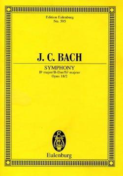 Sinfonie B-Dur, Op. 18/2 Johann Christian Bach Partition laflutedepan