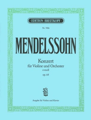 Concerto Violon op. 64 mi mineur MENDELSSOHN Partition laflutedepan