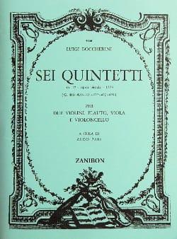 6 Quintetti, Op. 17 G.419/424 - Parties BOCCHERINI laflutedepan