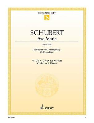 SCHUBERT - Ave Maria, opus 52 n ° 6 - Partition - di-arezzo.es