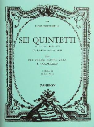 6 Quintetti, Op. 17 G.419/424 - Parties - laflutedepan.com