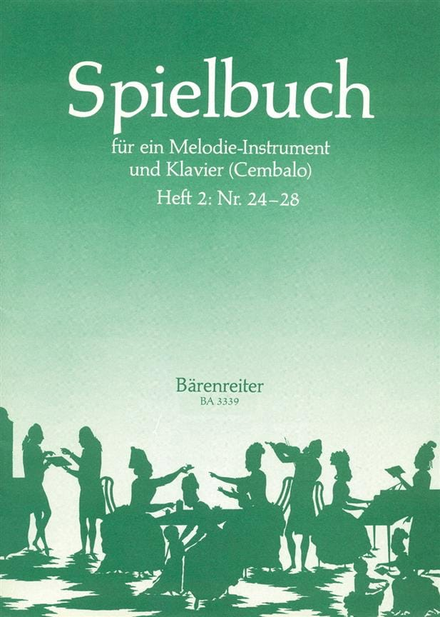 Spielbuch - Heft 2 Nr. 24-28 - Melodie-Instrument u. Klavier - laflutedepan.com