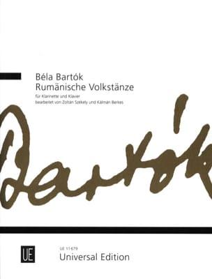 Rumänische Volkstänze BARTOK Partition Clarinette - laflutedepan