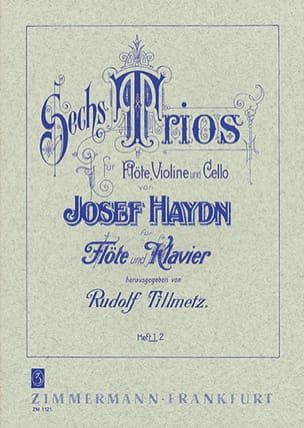 6 Trios - Heft 1 - Flöte Klavier HAYDN Partition laflutedepan