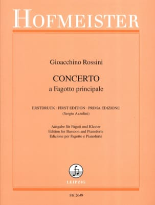 Concerto - Basson ROSSINI Partition Basson - laflutedepan
