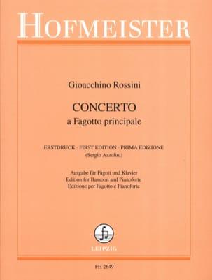 Concerto - Basson ROSSINI Partition Basson - laflutedepan