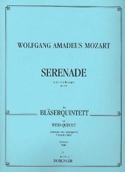 Serenade Es-Dur KV 375 -Bläserquintett - Stimmen MOZART laflutedepan