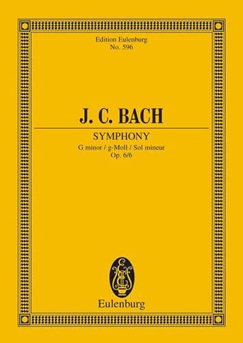 Sinfonie G-Moll, Op. 6/6 - Johann Christian Bach - laflutedepan.com