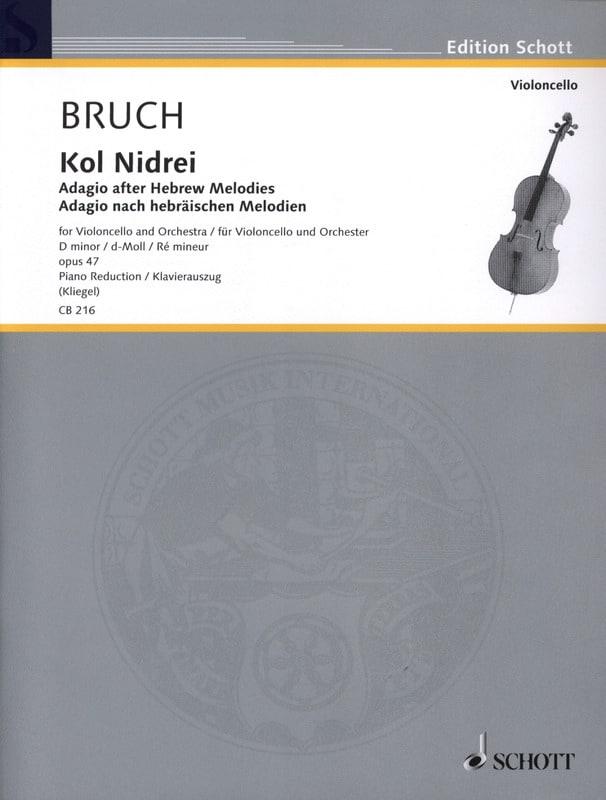 Kol Nidrei Op. 47 en Ré Min. - BRUCH - Partition - laflutedepan.com