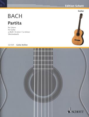Partita a-moll BWV 1013 - Gitarre BACH Partition laflutedepan
