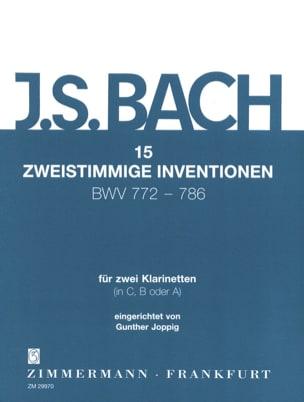 BACH - 15 Zweistimmige Inventionen Für 2 Klarinetten - 2 Klarinetten - Partition - di-arezzo.de