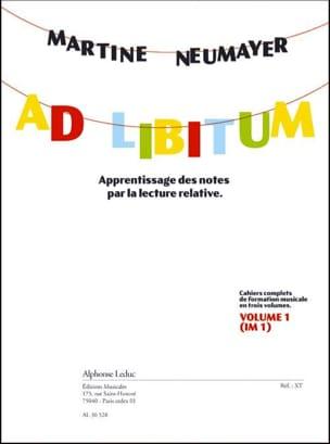 Ad Libitum Volume 1 Martine Neumayer Partition Solfèges - laflutedepan