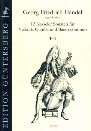 12 Sonates 1-4 - Viola da gamba and BC HAENDEL Partition laflutedepan