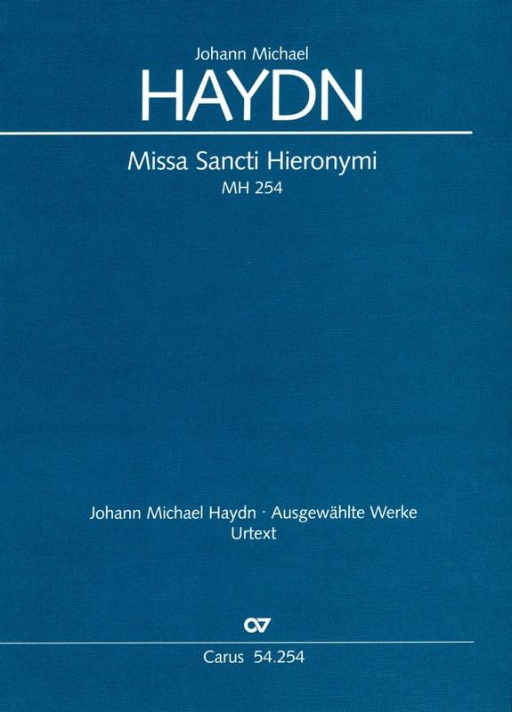 Missa Sancti Hieronymi Mh 254 - Michael HAYDN - laflutedepan.com