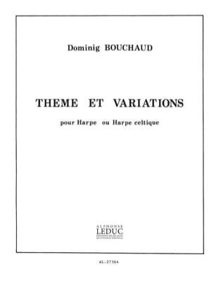 Theme et Variations Dominig Bouchaud Partition Harpe - laflutedepan