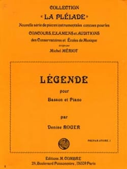 Légende Denise Roger Partition Basson - laflutedepan