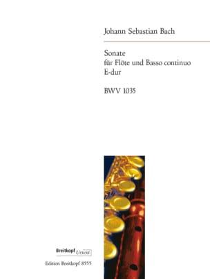 Sonate E-Dur BWV 1035 - Flöte u. Bc BACH Partition laflutedepan
