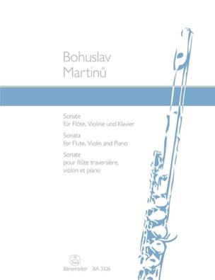 Sonate für Flöte, Violine und Klavier MARTINU Partition laflutedepan