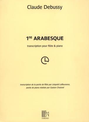 Arabesque n° 1 DEBUSSY Partition Flûte traversière - laflutedepan